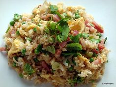 Speedy Ham & Egg Fried Rice - Great authentic Chinese flavours and easy to make too! Lovefoodies