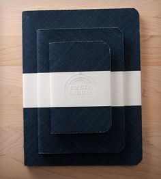 Indigo Denim Notebook Gift Set - Set of 3 by Emgie Libris on Scoutmob Shoppe - I can do this!
