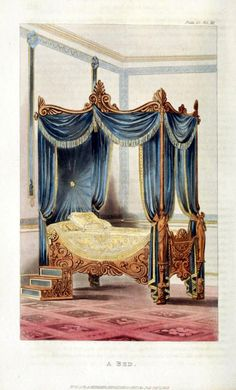 Two Nerdy History Girls: Bedroom furnishings, early 1800s