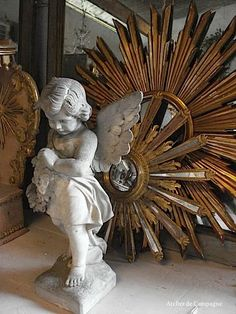 Dorés Sunburst Mirrors  - Terrible thing is....my parents had one in their hotel in France, but forgot to take it with them when selling the Chateau...Aaaaargh! Been looking for similar mirror for ages :-'(