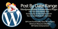 Deals Wordpress Plugin: Post By Date Rangein each seller & make purchase online for cheap. Choose the best price and best promotion as you thing Secure Checkout you can trust Buy best
