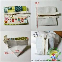 Patterns and ideas for sewing cosmetic bag – Artofit Small Sewing Projects, Sewing Hacks, Sewing Tutorials, Sewing Patterns, Patchwork Patterns, Capas Kindle, Pouch Pattern, Pouch Tutorial, Patchwork Bags