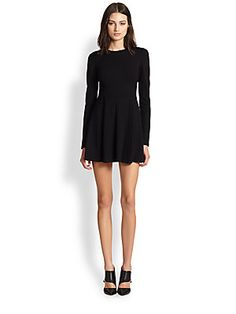 {Theory Tillora Long Sleeve Fit & Flare Dress in Black - Fall 2014}