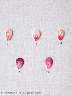 Needlepainting color blending tips