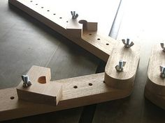 picture frame miter clamp jig | ここに額縁の角がきます。