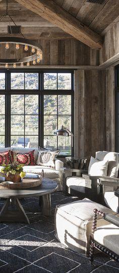 Rustic seating area | Candelaria Design