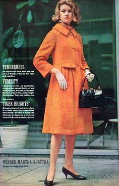 Martha Stewart, nee Kostyra, for Glamour 1961.