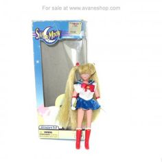 Sailor Moon Doll 6 inch Pretty Face Doll with Box Blue Box Irwin 2000 Sailor Moon Toys, Sailor Moon Art, 80s Characters, Sailor Moon Merchandise, Tear Stains, Price Sticker, Dolls For Sale, Blue Box, Pretty Face