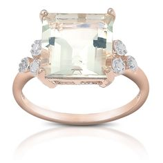 Dolce Giavonna Gold over Sterling Silver Gemstone Diamond Accent Cocktail Ring - Overstock™ Shopping - Top Rated Dolce Giavonna Gemstone Rings