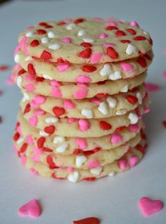 Easy Valentine's Cookies. I might end up doing this..it looks so easy!