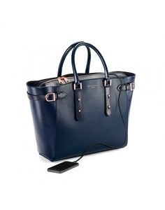 Aspinal of London Women's Marylebone Tote Bag - Navy