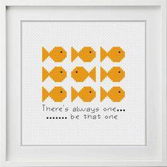 Cross Stitch Pattern Be the One Quick Cross Stitch Modern
