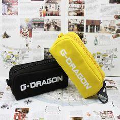 G-Dragon Korean Singer Icon Bigbang Canvas Cosmetics Pencil Case. #GDragon #KoreanSinger #Icon #Bigbang #Canvas #Cosmetics #PencilCase