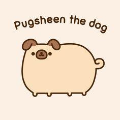 Pusheen the dog Kawaii Drawings, Cute Drawings, Pugs, Gato Pusheen, Pusheen Stormy, Cute Cats, Funny Cats, Image Chat, Nyan Cat
