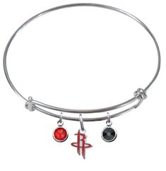 Houston Rockets NBA Expandable Wire Bangle Charm Bracelet – SportsJewelryProShop