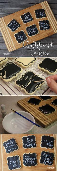 Chalkboard Sugar Cookies!