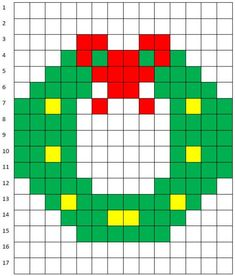 Risultato immagini per pixel art template christmas Loom Patterns, Beading Patterns, Quilt Patterns, Plastic Canvas Ornaments, Plastic Canvas Patterns, Xmas Cross Stitch, Cross Stitching, Pixel Art Noel, Cross Stitch Designs