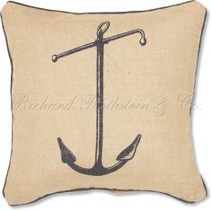 Blue Anchor Nautical Pillow