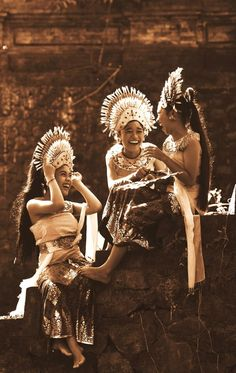 Cheerful Dancers in Bali