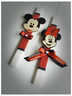 Mickey Birthday, Disney Cartoons, Diy Crafts For Kids, Christening, Decorated Candles, Minnie Mouse, Easter Ideas, Dreams, Sewing