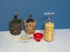 Mini Bottles, Bottle Vase, Korn, Diy And Crafts, Miniatures, How To Make, Canisters, Vases, Wine
