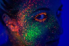 Electric Neon Splattered Paint Portraits by Lisa Stroeher