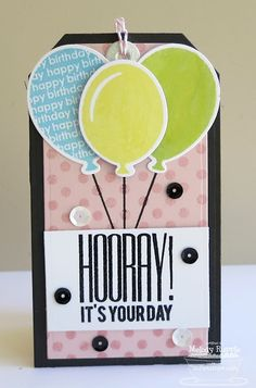 Birthday Greetings; Party Balloons; Darling Dots; Party Balloons Die-namics; Traditional Tags STAX Die-namics - Melody Rupple