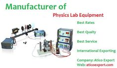 We offer effective aids under #Physics #Lab #Supplies which are cost effective, self contained. If you are willing to setup your #laboratory then call us .
