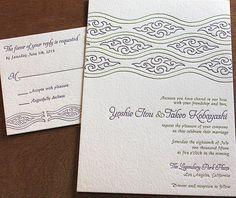 asian letterpress wedding invitation by invitations by ajalon