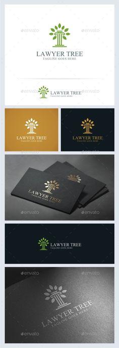 Lawyer Tree Logo Template - Symbols Logo Templates