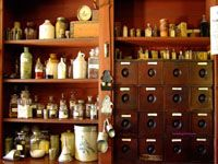 shelves in old general store