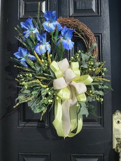 Hey, I found this really awesome Etsy listing at https://www.etsy.com/listing/221244432/spring-or-summer-door-wreath-front-door