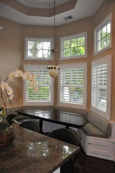 Shutters Bay Windows Bay Window Bench Design Ideas, Pictures, Remodel, and Decor - page 15