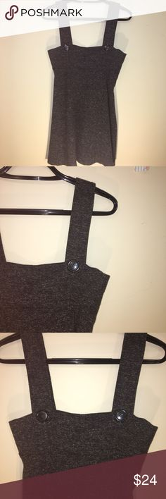 """/aqua/ textured overall style jumper Cute overall style dress. Textured and button accents. Pit to pit 16"""" length 35"""". Excellent condition Aqua Dresses"""