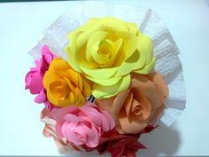 Bouquet de rosas em papel