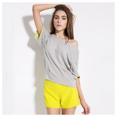 High Waist Shorts With Back Zipper and Pockets.