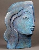 Lauritz.com Sculpture Head, Sculptures Céramiques, Pottery Sculpture, Stone Sculpture, Abstract Sculpture, Ceramic Figures, Ceramic Art, Art Moderne, Stone Carving