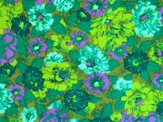1960s Floral Upholstery Weight Fabric