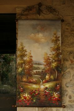 #gardendecor#gardenstyle#countrystyle#vintagefinds #luxuryhome#homedesign #pezziunici#homedesign #homesweethome Italian Country Decor, Landscape, Painting, Art, Art Background, Scenery, Painting Art, Kunst, Paintings