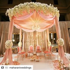 "71 Likes, 5 Comments - K.I. Weddings (@kiweddings) on Instagram: "" #Repost @maharaniweddings with @repostapp ・・・ This #Mandap for an #Indianwedding designed by…"""