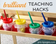 40+ Brilliant Teaching Hacks for your Preschool or Kindergarten Classroom You WISH you knew sooner! #28 is an amazing time saver!