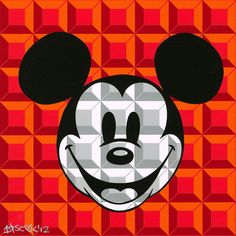 """8-Bit Block Mickey (Red)"" by Tennessee Loveless 