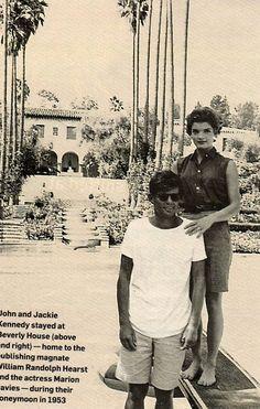 John F. Kennedy & Jacqueline Bouvier-Kennedy during their honeymoon.