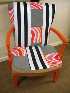 Funky orange chair