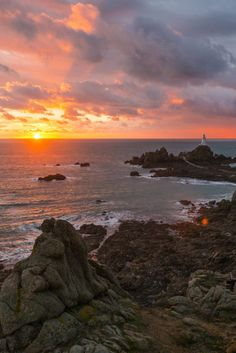 Vibrant sunset in Jersey, Channel Island #EscapeToJersey