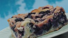 This fresh blueberry buckle is topped with a cinnamon streusel in this traditional recipe from eastern Canada where blueberries grow wild and abundantly each summer.