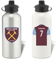 Keep yourself hydrated in style with your own personalised West Ham United FC water bottle.