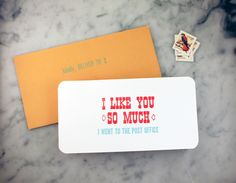 Post Office Letterpress Card. $3.00, via Etsy.