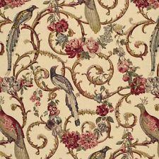 3yds Schumacher Madrigal Greeff Birds Floral Vines Linen