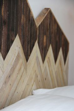 Headboards created using salvaged materials, handmade by Ariele Alasko. Via Modern Hepburn